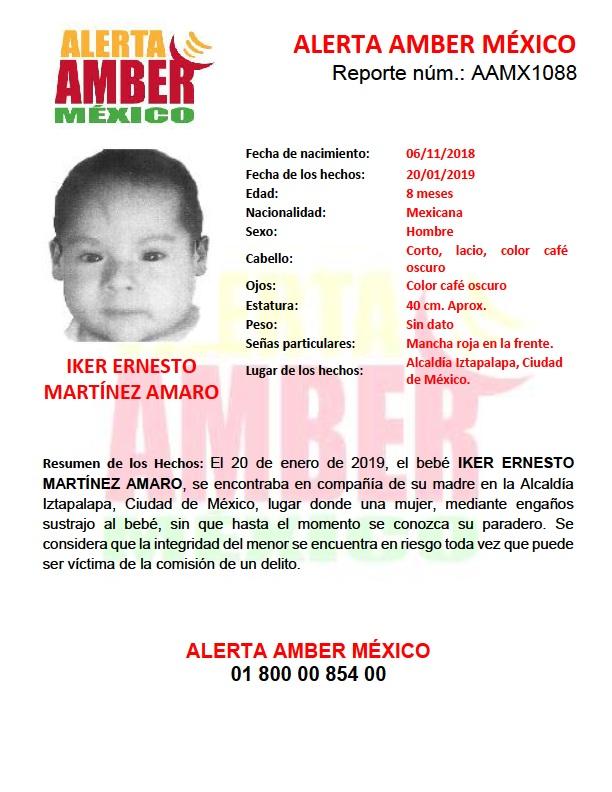ALERTA AMBER IKER ERNESTO MARTÍNEZ AMARO (CDMX)