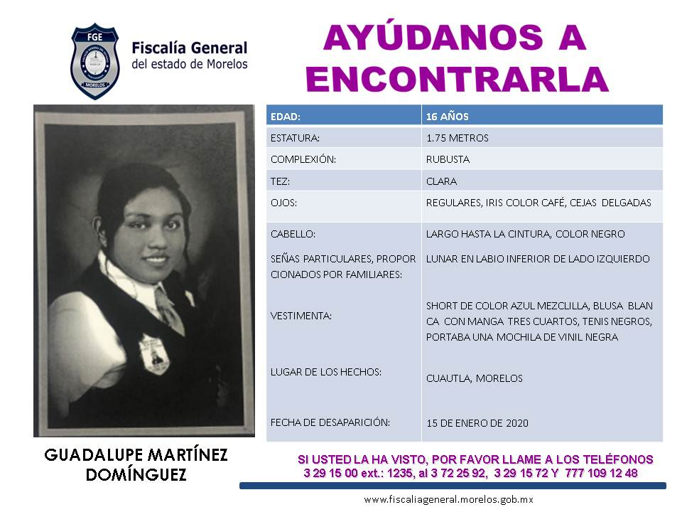 CEDULA GUADALUPE MARTÍNEZ DOMINGUEZ
