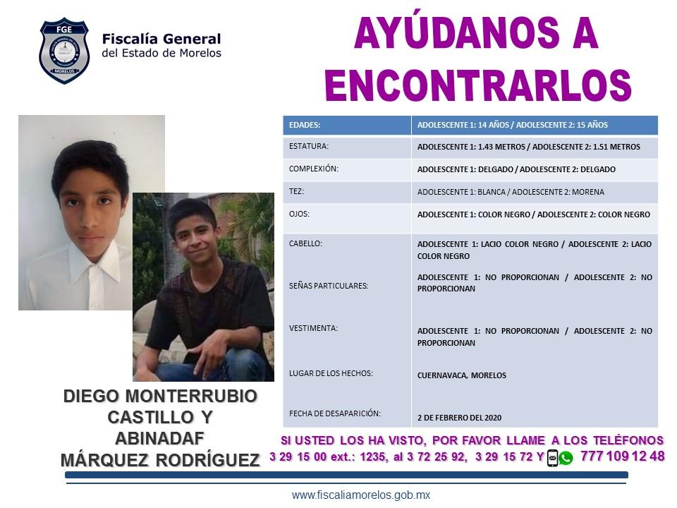DIEGO MONTERRUBIO CASTILLO Y ABINADAF MÁRQUEZ RODRÍGUEZ