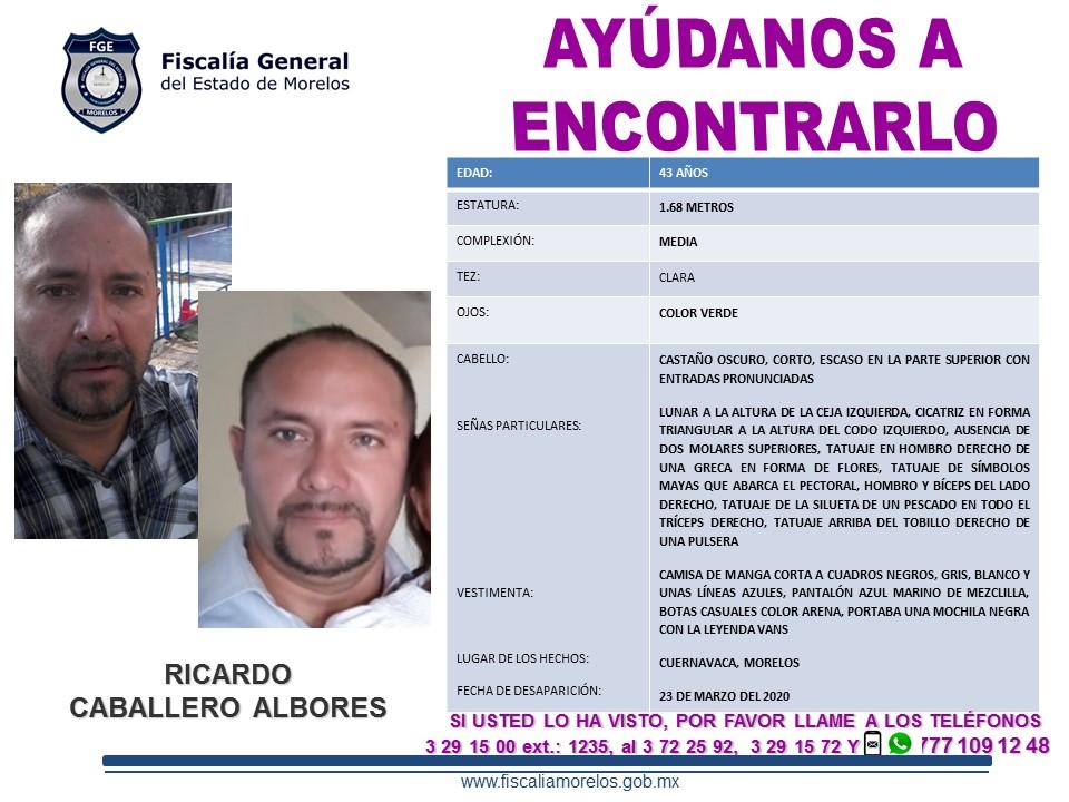 RICARDO CABALLERO ALBORES