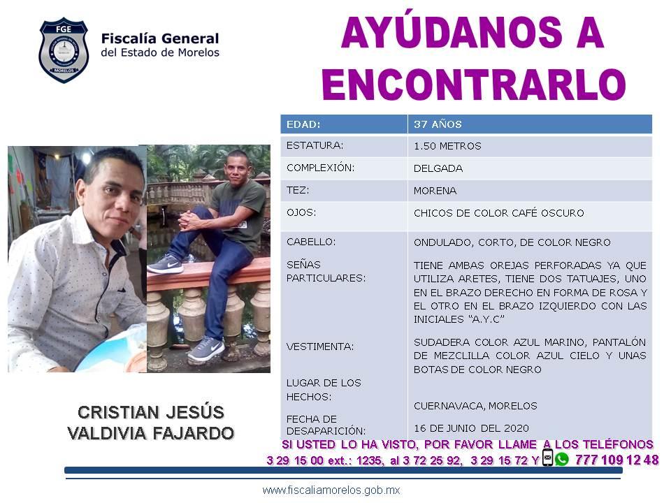 CEDULA 16-06-2020 CRISTIAN JESUS VALDIVIA SC01-6455 SOL21-06-2020