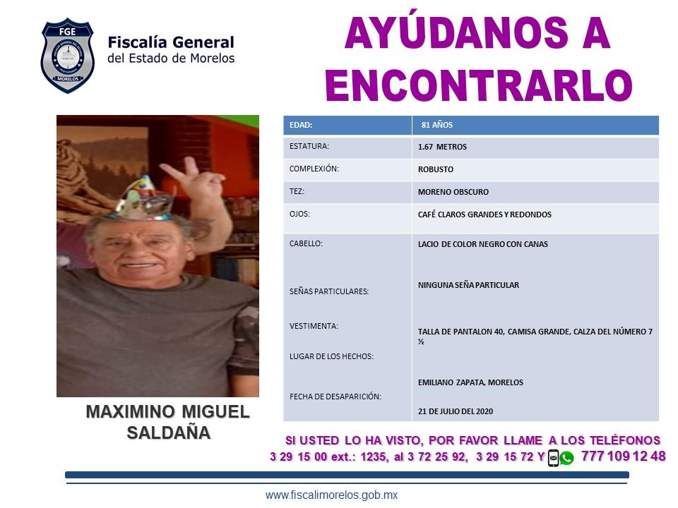 Maximino Miguel Saldaña