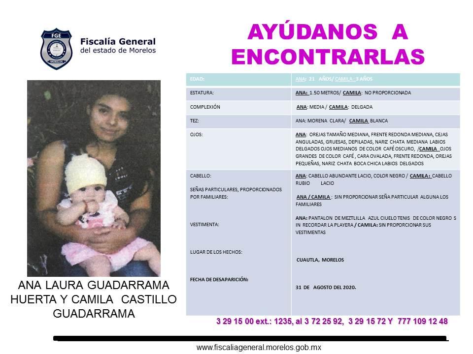 ANA LAURA GUADARRAMA HUERTA Y CAMILA CASTILLO GUADARRAMA
