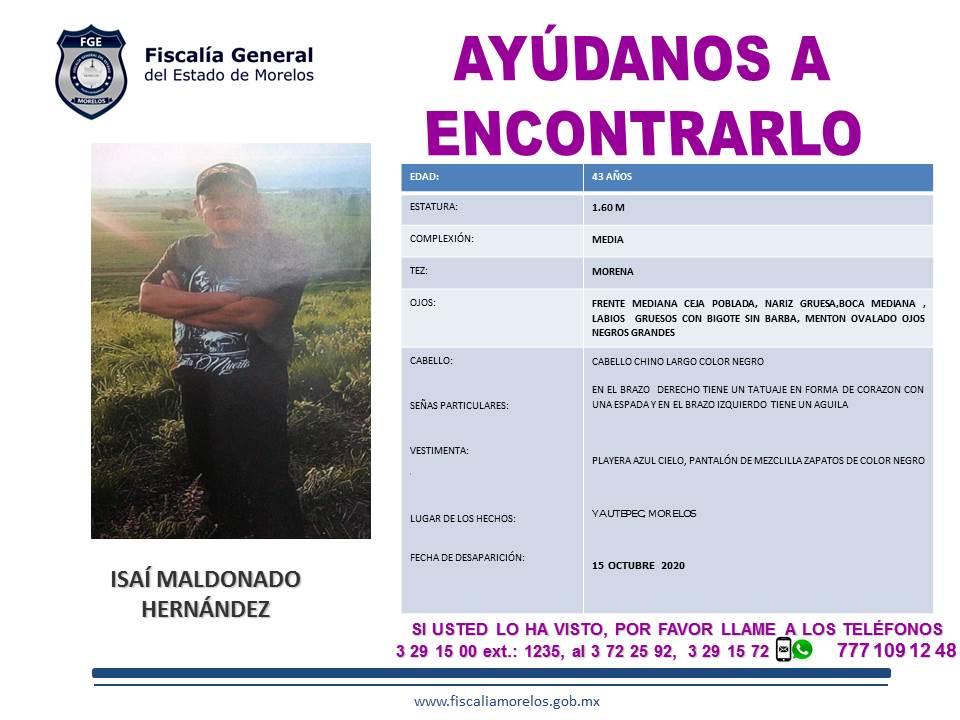 ISAÍ MALDONADO HERNÁNDEZ